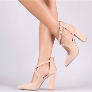 Shoes - New Cute Criss Cross Heels last 3!!